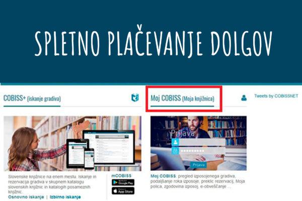 Spletno plačevanje dolgov v knjižnici